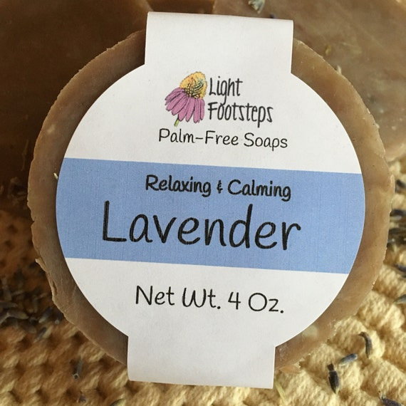 Lavender Herbal Soap & Shampoo Bar : Vegan, Palm oil free - Artisan - Handmade