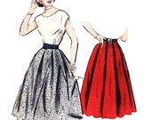 Butterick 6004 Misses' Vintage 1950s Gored and Pleated Skirts Sewing Pattern