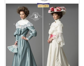 Butterick B6074 Misses' Late 19th Century Ruffled Tops and Floor-Length Skirts Historical Costume Sewing Pattern