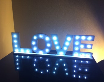 Marquee,light up letters, Love sign with lights,light up sign, valentine's gift