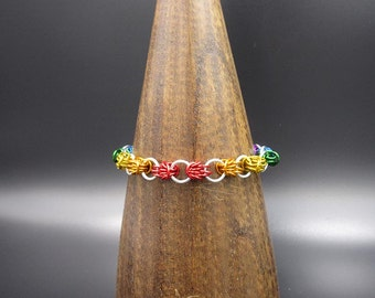 Rainbow Shizaro Chainmaille Bracelet