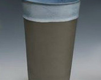 Tumbler, Charcoal & Rainforest Green, porcelain cup, water cup
