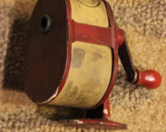 Vintage 1920's-1930's Era GEM Celluloid Canister Hand Crank Automatic Rotary Pencil Sharpener