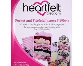 Heartfelt Creations Pocket and Flipfold Inserts F-White