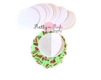 "White Felt Circles- 1.5"" Felt Circles- Self Adhesive Felt Circle- 1.5 Inch Felt Circles- Die Cut Felt Circle- Wool Felt Circle- Wholesale"