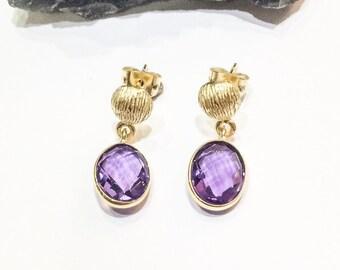 Little Amethyst Drop Earrings