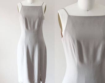 1990s grey mini dress // 1990s mini dress // vintage dress