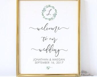 Wedding Welcome Sign Printable - EDITABLE Wedding Printable - DIY Wedding Printable - Instant Download Printable - 11x14 P15