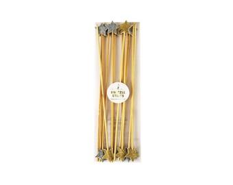 Star Swizzle Drink Sticks by Meri Meri, Party Decorations, Party Supplies, Tableware