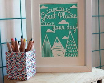 You're Off to Great Places | Paper Cut | Sugar-Coated Spider