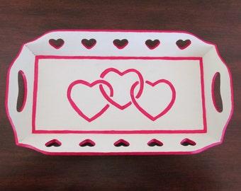 Wooden Hearts Tray