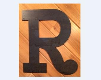 Large Metal Letter R Metal Letter R  Etsy