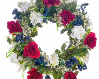 Patriotic Wreath  - Red, White and Blue(SW628)