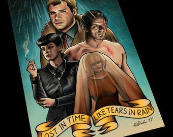 Blade Runner Tattoo Flash Art Print 11x17