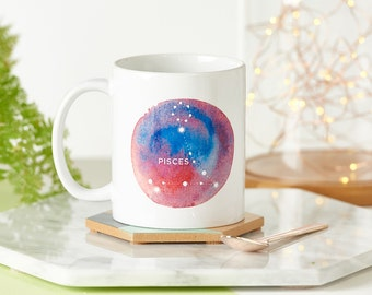 Birthday Constellation Mug - Personalized Mug - Gift for Friend - Gift for Colleague - Leaving Gift - Gift for Her - Birthday Present