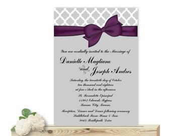Wedding Invitation, Vow Renewal Invitation, Rehearsal Dinner Invitation, digital, printable, invites, W1494