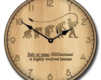 Fishing Evolution Wall Clock