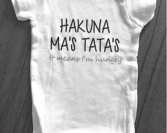 Hakuna Ma's Tata's Baby Onesie