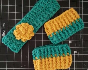 Ear warmer boot cuff set