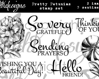 Pretty Petunias Digital Stamp Set