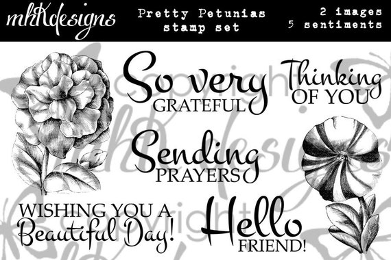 Pretty Petunias Digital Stamp Set