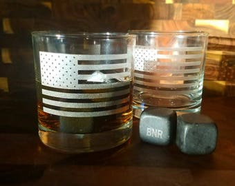 4th of July Barware Whiskey Glasses, July 4th Rocks Glass, Independence Day Glass, American Flag Merica Day, 4th July Decor, July 4th Decor