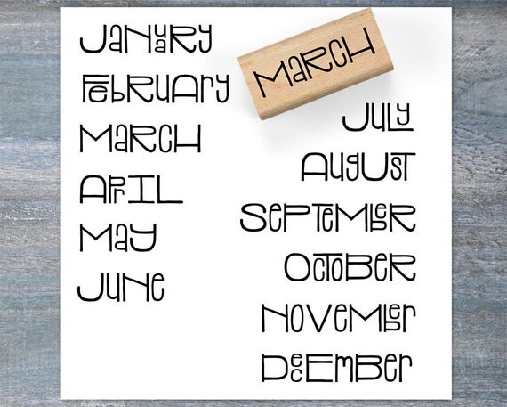 Calendar Stamp Bullet Journal : Month planner stamps bullet journal months of the