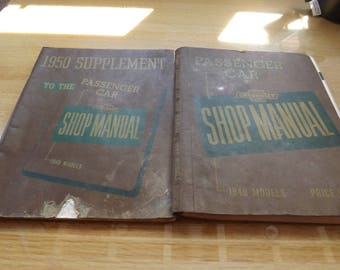 Two Chevrolet Shop Manual and Supplement Manual