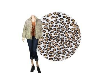 Small Silk Leopard Print Padded Bomber Jacket by Clio //  Silk Bomber Jacket // E98