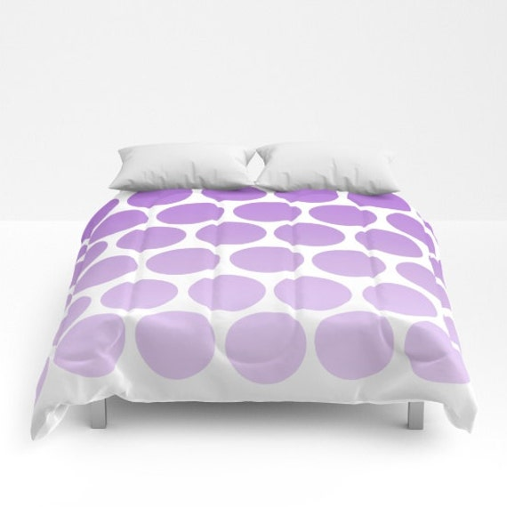 purple polka dot comforter ombre shades bed cover. Black Bedroom Furniture Sets. Home Design Ideas