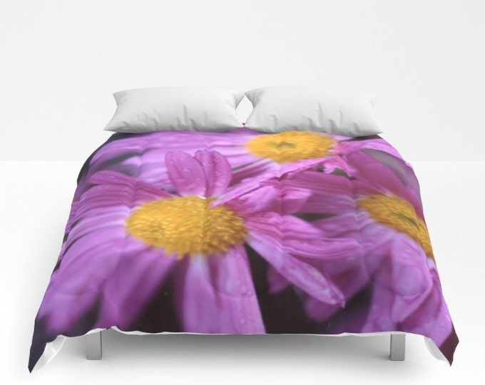 Purple Flower Comforter - Bed Cover - Bedding - King - Queen - Full - Made to Order