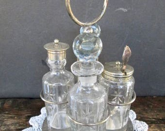 Vintage Silver Plated Breakfast Condiment Set
