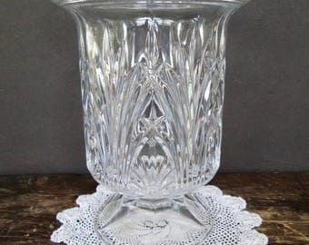 Clear Crystal Urn Candleholder