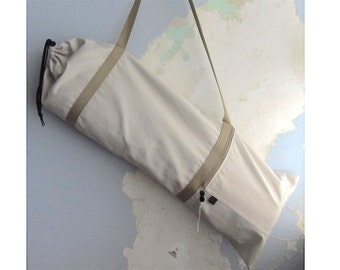 Yoga mat bag, Yoga mat carrier - Light beige - Medium-Large