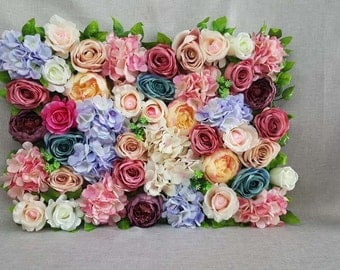 Artificial Flower Backdrops Silk Flower Wall Background For Wedding  Romantic Photography Backdrops Silk Flower Panels 40