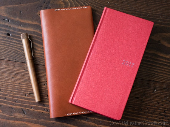 Hobonichi Weeks planner cover in superior quality American bridle leather
