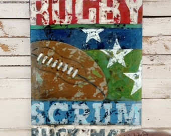 Rugby Art - Line Up Collection - Sports Wall Art Decor