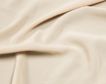 Natural 59'' Poly Hi-Twist Chiffon Fabric  by the Yard, Chiffon Fabric, Wedding Chiffon, Lightweight Chiffon Fabric - Style 687