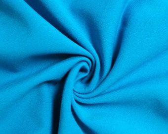 """Peacock 60"""" Rayon Nylon Spandex Stretch Heavy-Weight Ponte Roma Fabric by the Yard - Style 695"""