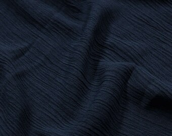 "Denim 50"" Light- Weight Rayon Crepon PD Fabric by the Yard - Style 697"