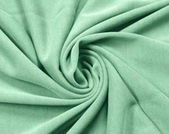 Mint Modal Poly Sand Wash Jersey Cupro Knit Fabric by the Yard - Style 681