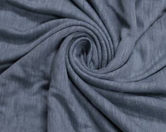 Denim Steel Slub Printed Sandwash Rayon Fabric by the Yard - Style 705