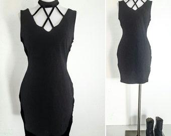 90s DRESS CUT OUT Dress Black Dress Womens Womens Dresses Womens Clothing Vintage Vintage Clothing Vintage Dress Casual Dresses Dresses Vtg