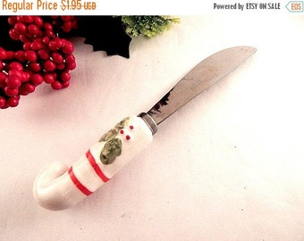 Spreader Cheese Knife Christmas Tableware Holiday Entertaining Utensil Stainless Steel and Ceramic Serving Accessory