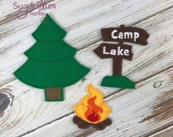 Camping Accessories Set 1 for Felt Paper Dolls