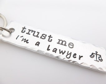 Lawyer Gift, Legal Council, Keychain for Lawyer, Law Student, Handstamped Keychain, Stamped metal, Scales of Justice, Judge, Attorney Gift