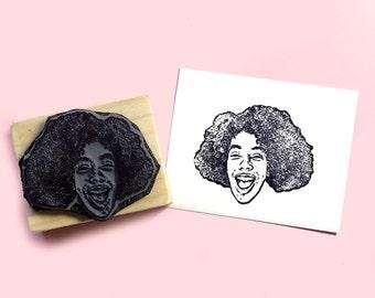 Custom Face Portrait Rubber Stamp