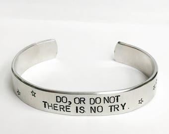 space fandom aluminum cuff bracelet // geek dad or mom gift geekery nerd fan