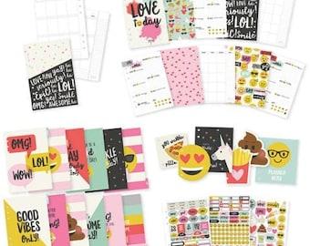 Simple Stories - Carpe Diem - Emoji Love Collection - A5 12 Month Planner Insert Set - 272 pieces - 8026