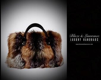 Ultimate Luxury Gift Or Accessory/Stunning Hollywood Genuine Fox Fur Handbag/Genuine Fox Fur Purse Fox Fur Bag/2017LuxuryCollection